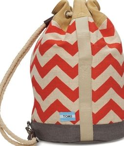 NWT TOMS Reef Chevron Canvas Backpack